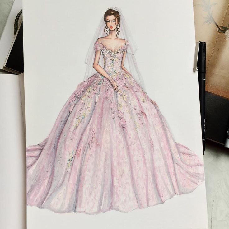 how to draw a cinderella dress