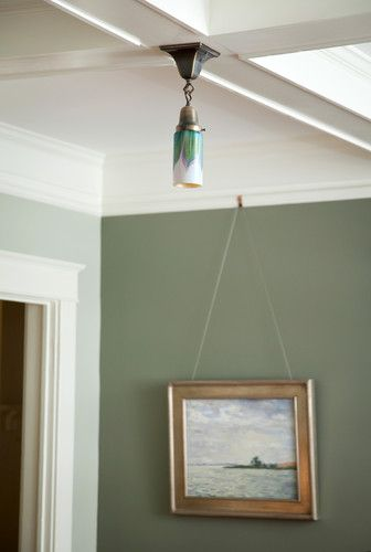 Picture Rail Moulding- love that light fixture too!