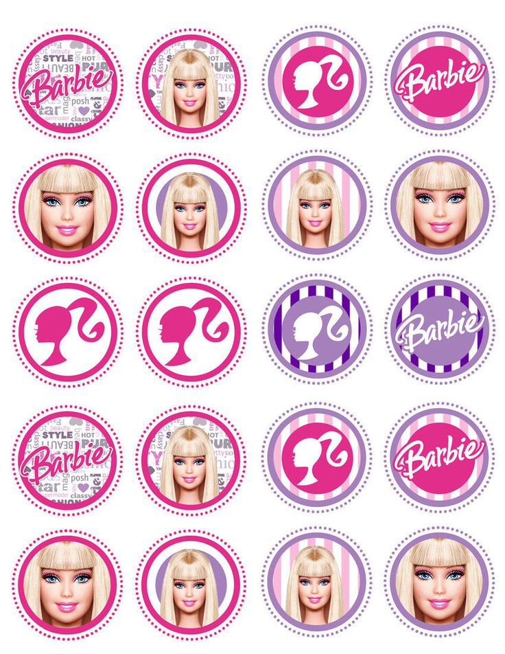 If your little princess is a Barbie fan, she will be thrilled when you make her these beautiful, professional-looking cupcakes with our edible image toppers!!! Description Wafer paper (rice paper) is