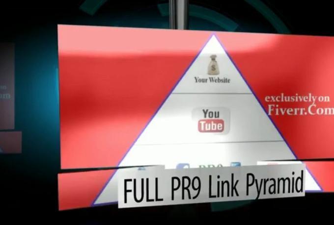YouTube based FULL PR9 mini Link Pyramid - #SEO #LocalSEO #LinkPyramid #YouTube