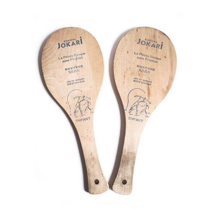 Jokari Eskual 50s Indoor Outdoor Tennis Table Game Wooden Game Paddle Paddleball French Children Decor Collector Game Cult Game Frontenis