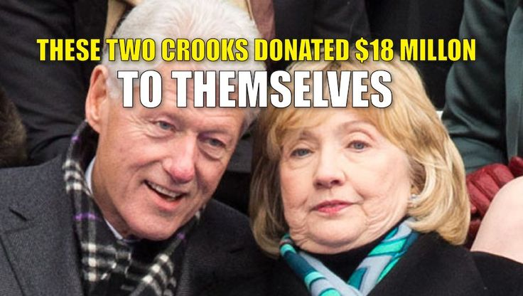 The Clinton's are arguably the most corrupt scam artists in politics. Hillary…