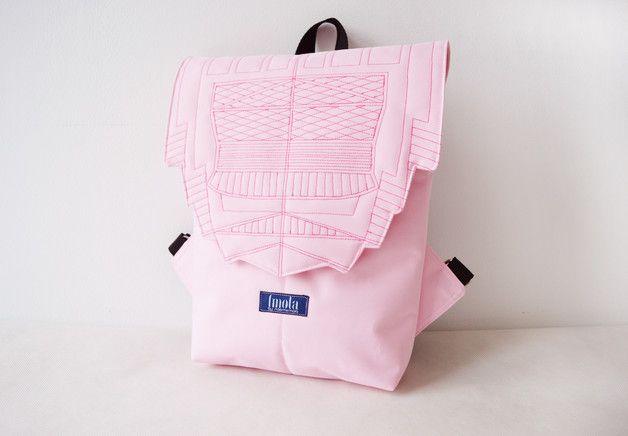 Backpacks – Backpack rose quartz hipster backpack – a unique product by Noemi-Imola-Barta on DaWanda