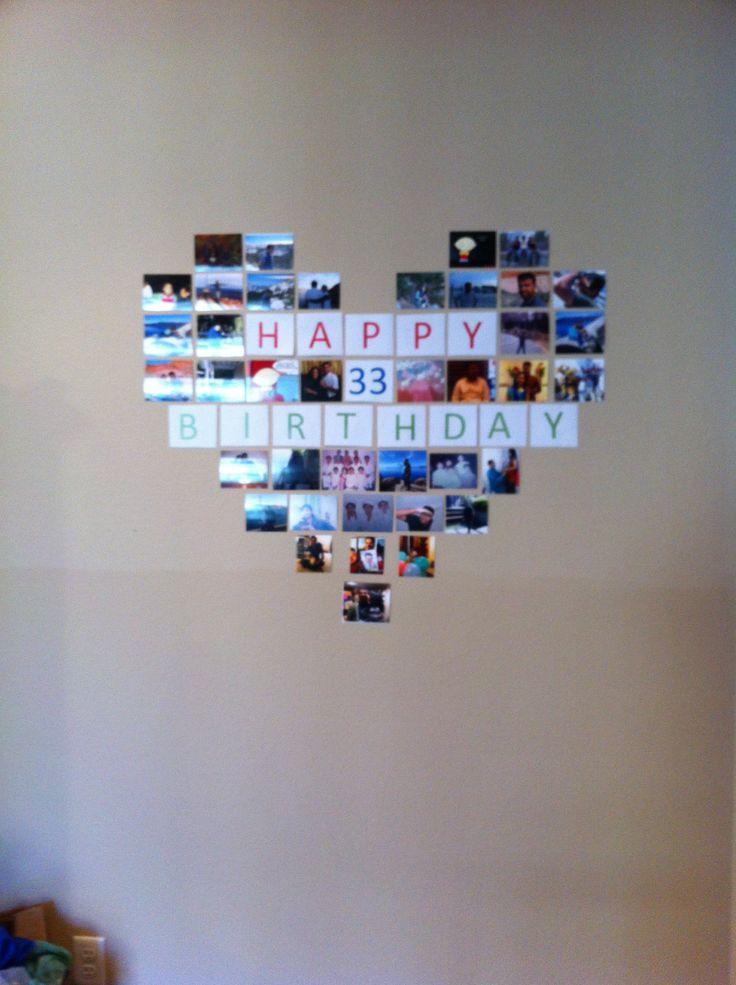 Birthday surprise - heart collage