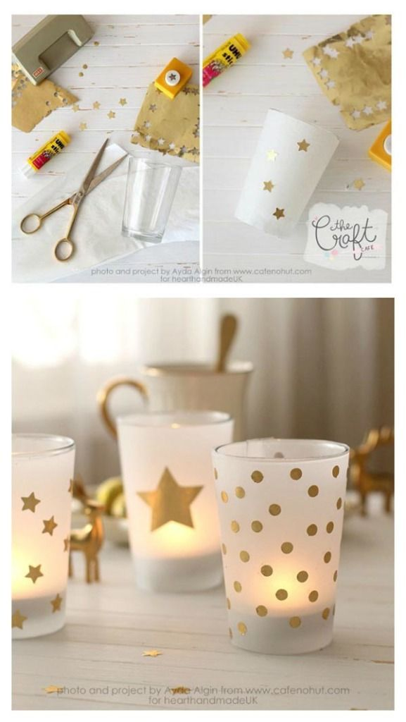 The Craft Cafe Gold Votive Holder Tutorial