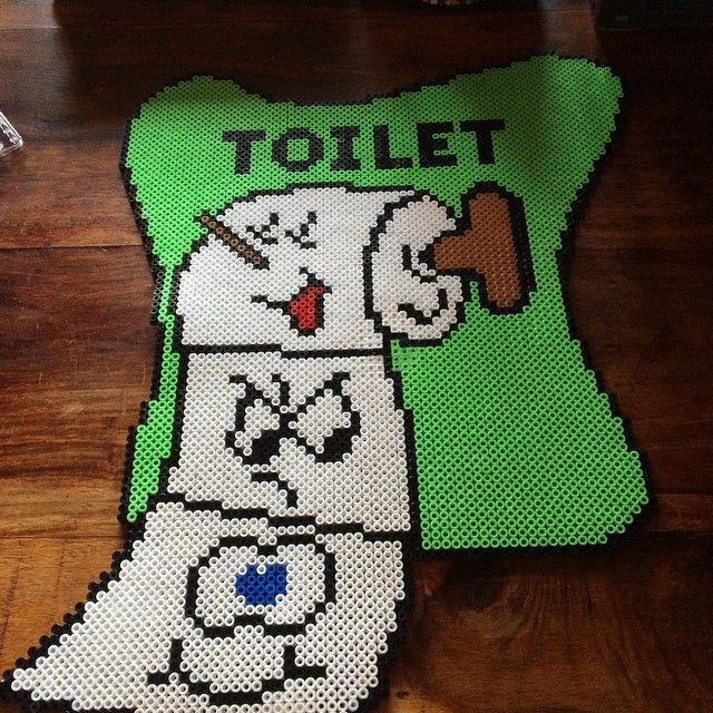 Perler Bead Toilet