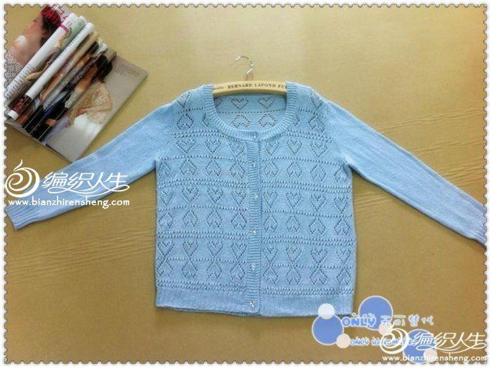 Сердце полый коса вязание небольшой свежий Весна рубашка - Женская свитер - ручной коса Жизнь