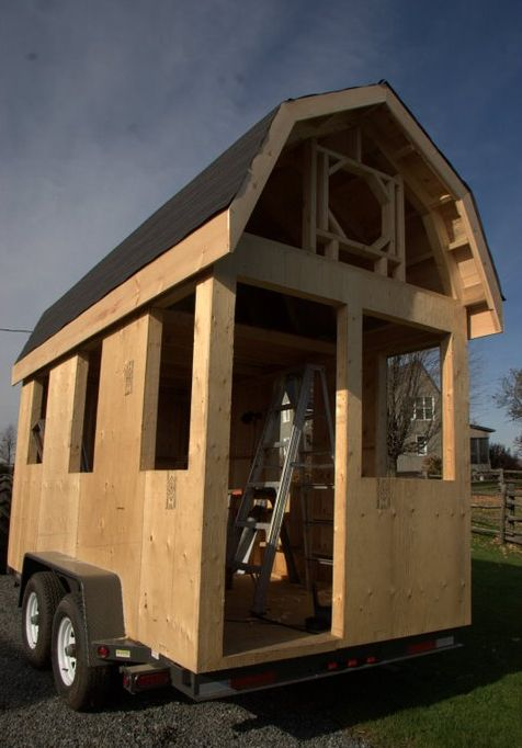 Tiny House With A Gambrel Roof Shed To Guest House