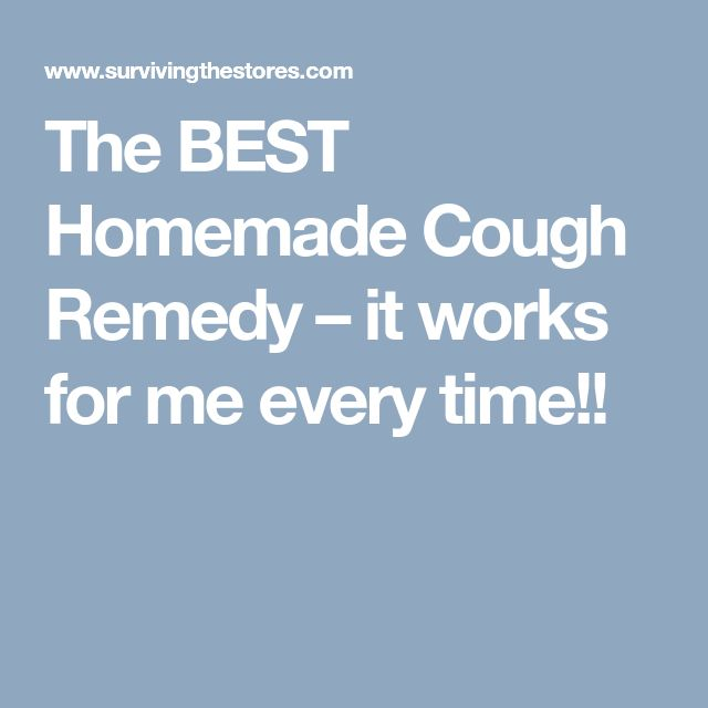 The BEST Homemade Cough Remedy – it works for me every time!!
