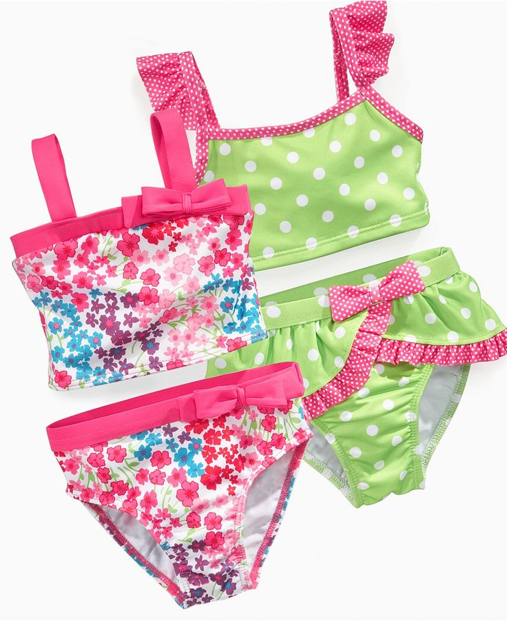 Again, if I didn't care about protectio from the sun, I'd get the green and pink one. Penelope Mack Baby Swimwear, Baby Girls Pattern Bikini - Kids Baby Girl (0-24 months) - Macy's