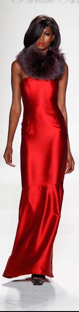 Farah Angsana #runway #fashion: Fashion Clothing, Red Gowns, Red Couture, Farah Angsana, Favorite Fashion, Farahangsana, Fur Collars, Fashion Red, Red Hot