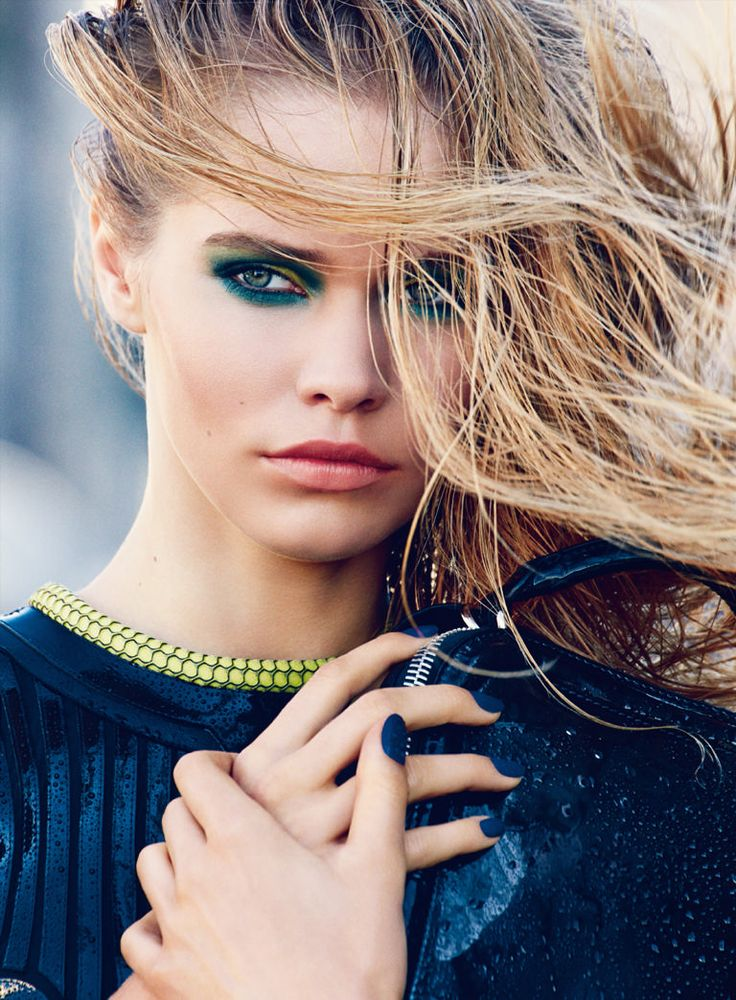 Kirstin Kragh Liljegren - Patrick Demarchelier - Allure February 2015 #eyeshadow
