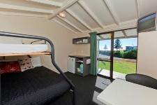 Basic 3 Berth Cabin Accommodation Papamoa Beach Resort, New Zealand