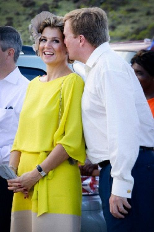King Willem-Alexander and Queen Maxima of The Netherlands visit the island of Saba, 14 Nov 2013