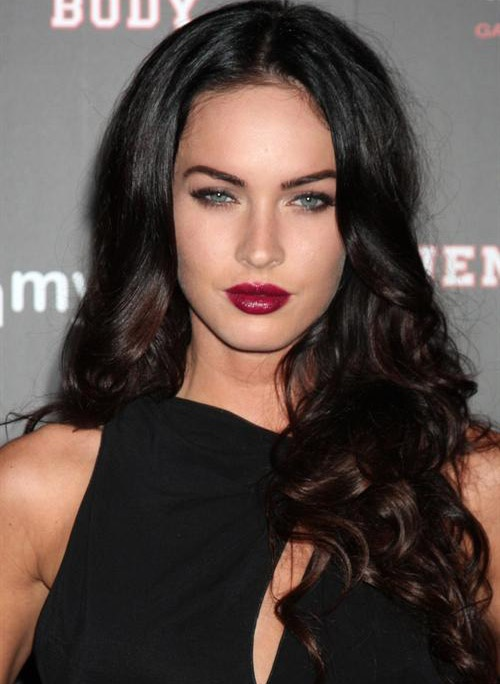 #meganfox #oxblood lips are spot on for #fall #makeup. @Bloom.com