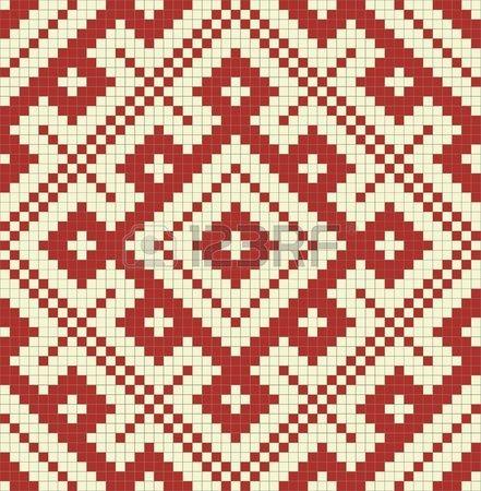 Ethnische slawischen nahtlose Muster Nr. 14 Stockfoto - 11499614