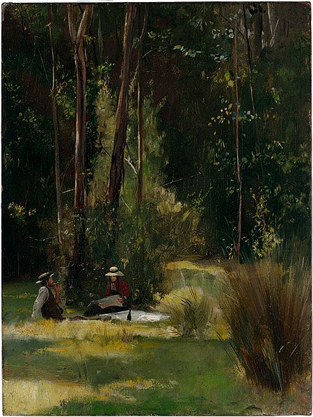 Tom Roberts, 'A Sunday afternoon', c.1886, oil on canvas, National Gallery of Australia, Canberra.