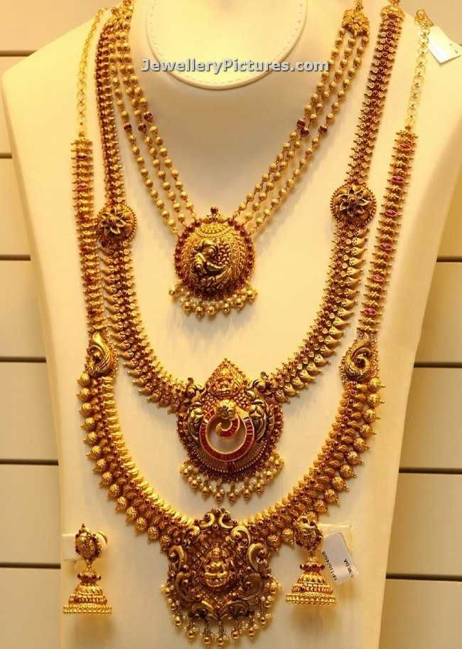 Antique necklace and antique finish necklaces Latest designs