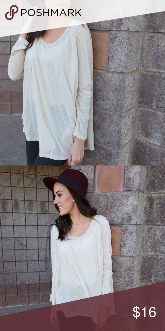 Ivory Cream Long Sleeve Top Long sleeve, flowy top! Loose fit. Model is wearing medium. Tops Tees - Long Sleeve
