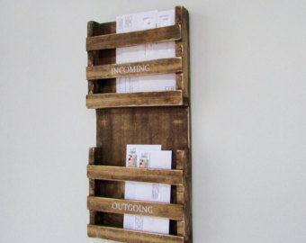 Buzón, correo, organizador de correo, buzón rústico, rústico, cartas, revistas, reclamado madera, granja, establo, carpintería, decoración para el hogar