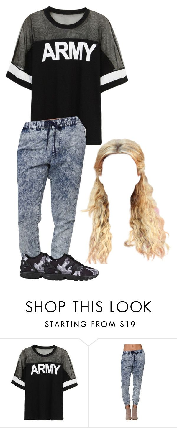 """Bestfriend-Young Thug Sunday Vibes"" by siniababy ❤ liked on Polyvore featuring Bullhead Denim Co. and adidas Originals"