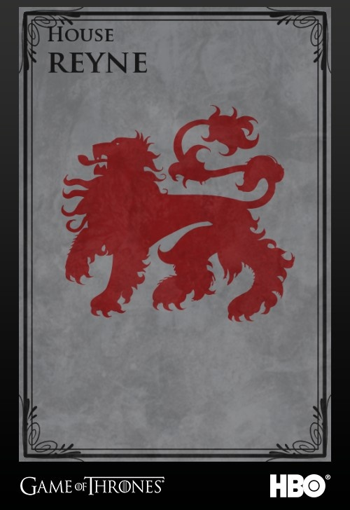 """When our vassals, the Reynes of Castamere, dared to rise up against the Lannisters, they learned how dangerous it can be to taunt a lion.""  -Tywin Lannister"
