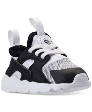 Nike Toddler Boys' Air Huarache Run Ultra Running Sneakers from Finish Line - WHITE/BLACK 10
