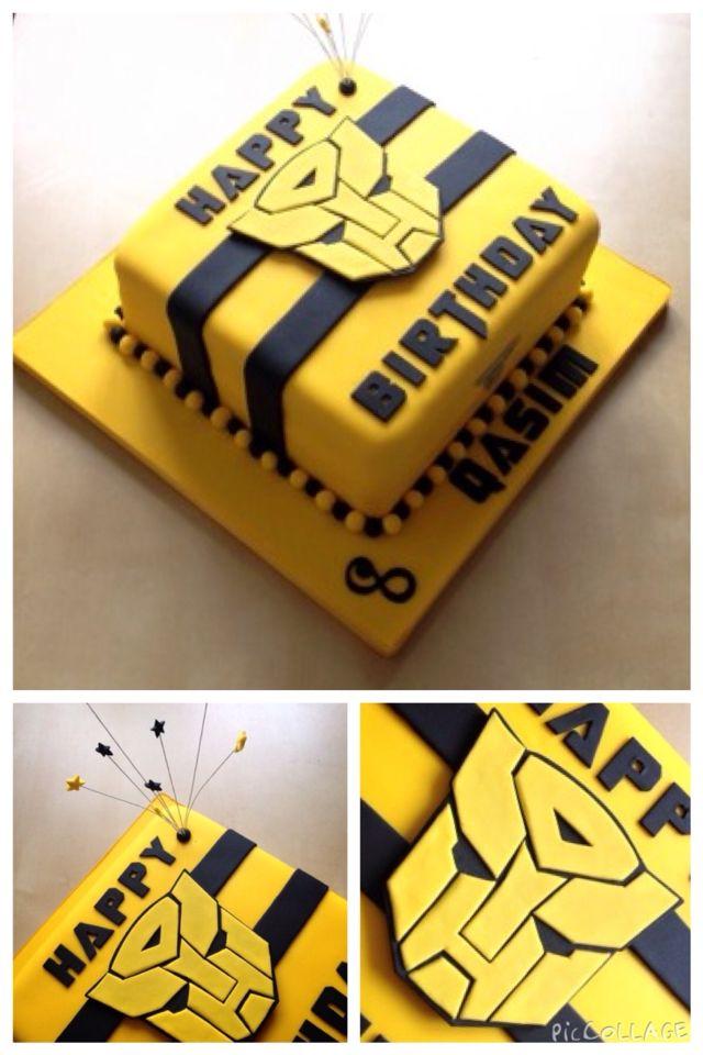 Bumblebee Transformer birthday cake