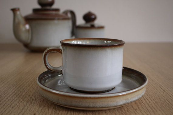 Sonja cup and saucer  Soholm Søholm  Bornholms by NordicThings
