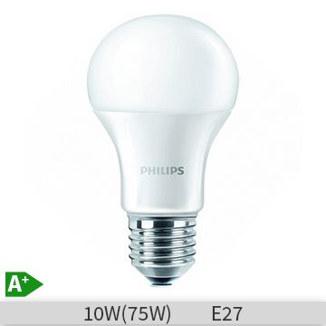 Bec LED Philips forma clasica, 10W, E27, 4000k, lumina neutra, 230V, A60, FR ND…