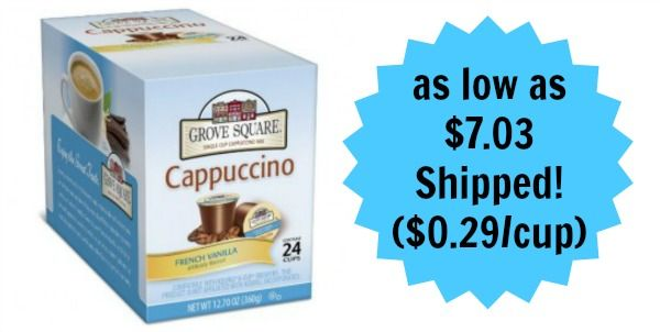 Grove Square 24-Count French Vanilla Cappuccino K-Cups as low as $7.03! ($0.29/cup)