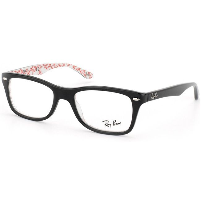 ray ban glasses design  ray ban 'rx 5228 5014' black logo print eyeglass frames by ray ban