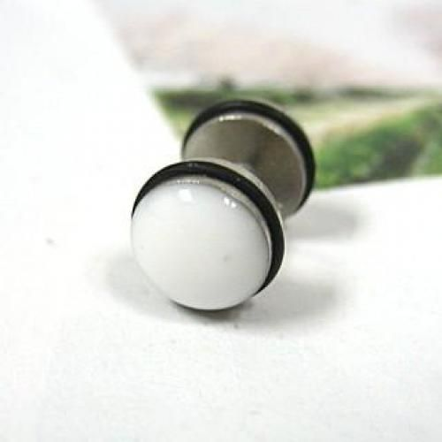 Single Earring White - One Size