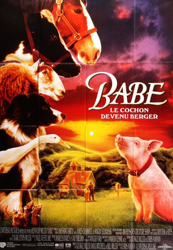 Babe (1995) Original French Movie Poster