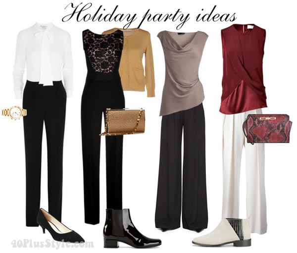 what to wear to a holiday party? Here are 6 holiday party outfit ideas to choose from! | 40plusstyle.com