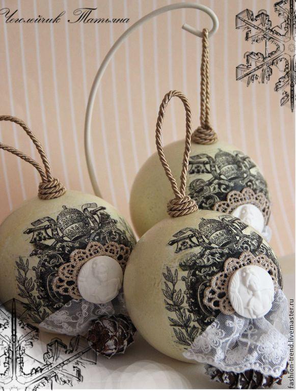 """Новый год 2015 ручной работы. Ярмарка Мастеров - ручная работа Комплект шаров """"Графиня фон Венскстерн"""". Handmade."""