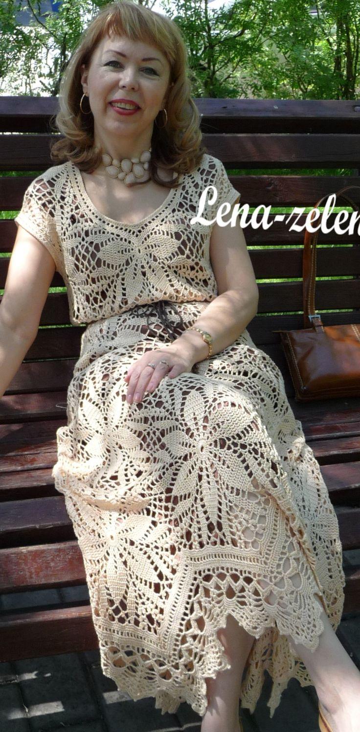 motifs crochet dress by Lena-Zelena on Yandex.fotki