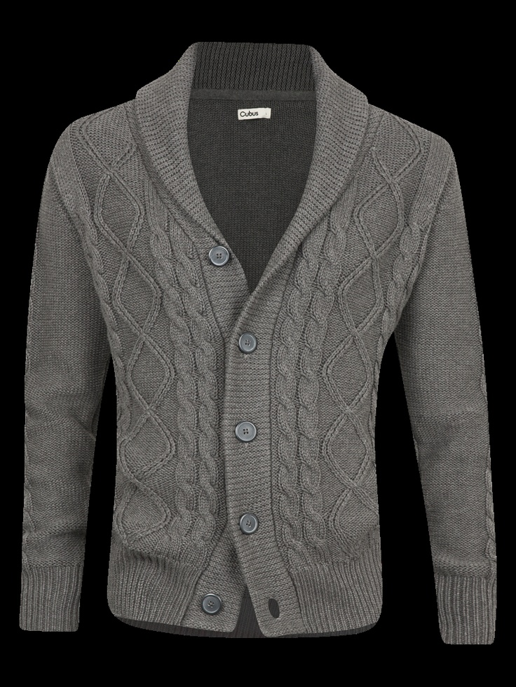 Cubus CABLE CARDIGAN Grey