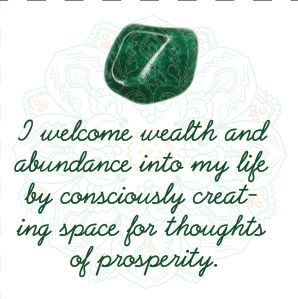 Green Aventurine Affirmation in our Crystal Affirmations eBook
