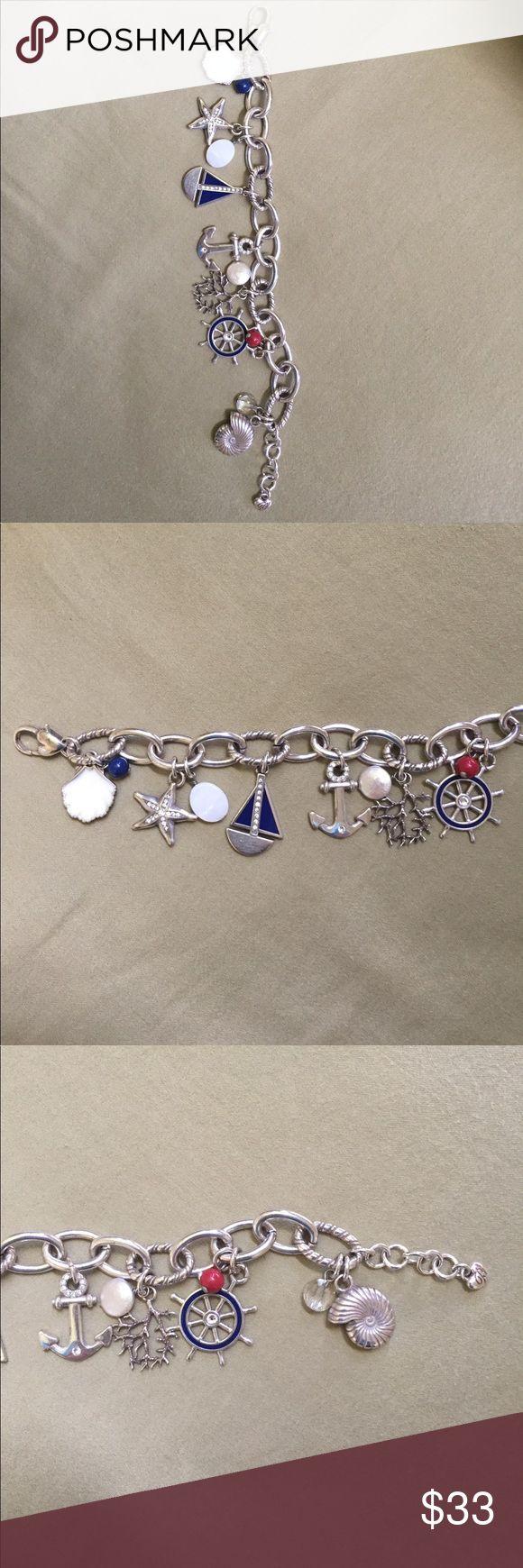 Brighton Nautical Charm Bracelet. Brighton nautical charm bracelet. Brighton Jewelry Bracelets