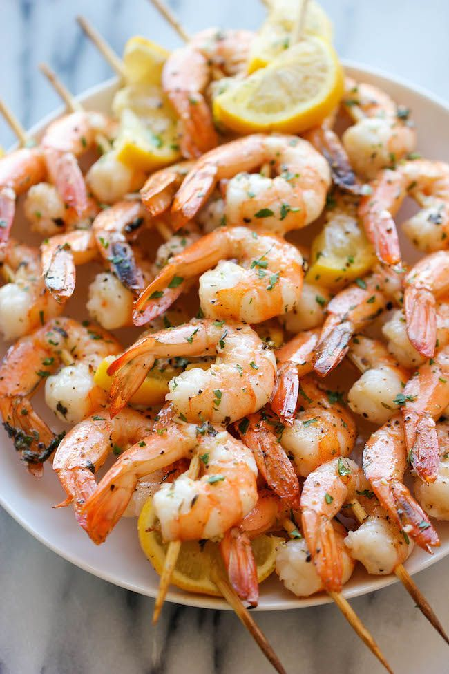 Lemon Garlic Shrimp Kabobs - the easiest, most flavorful way to prepare shrimp - so perfect for summer grilling