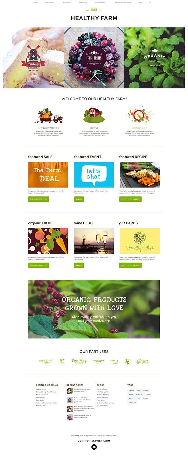 Healthy Farm | Food & Agriculture WordPress Theme Web Design