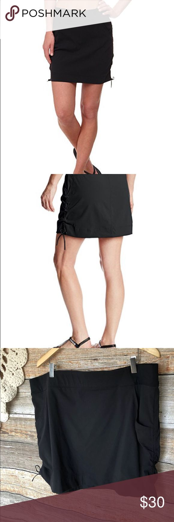 "Plus Size 2x Anytime Casual Golf Tennis Skirt 42"" Columbia  Sportswear Company  Anytime Casual Skort  Omni Shield  Advance Repellency  Side Drawstring  Front Pockets.  Body: 96% Nylon 4% Elastane  Shield: 85% Polyester 15% Elastane  Lining: 85% Polyester 15% Elastane   Hard to find Size: 2X  Waist:42"" un-stretched 48"" stretched  Hips around:50""  Length:18""  Retailed for $60 at Macy's last year. Columbia Skirts Mini"