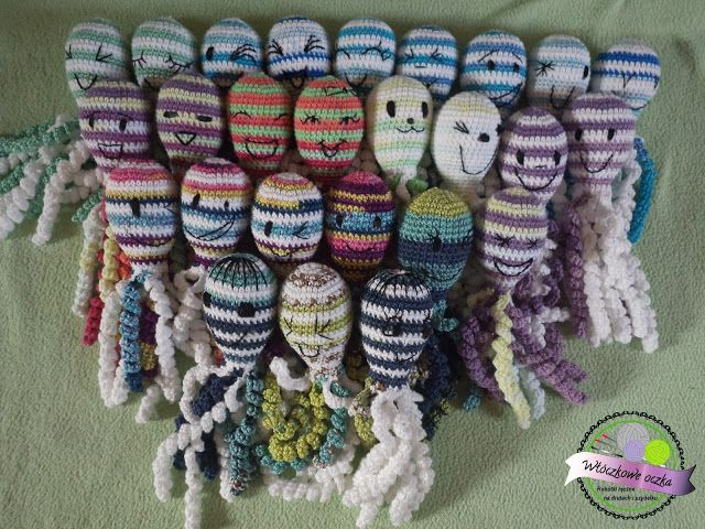 ośmiorniczki dla wcześniaków  crochet octopuses for preemies