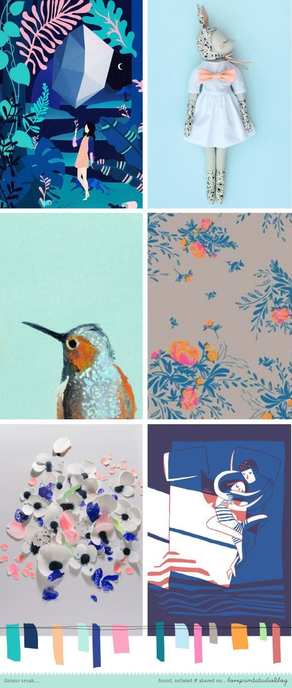 Choosing the paint colour for any direction room angela bunt - Love Print Studio Blog Colour Crush Moodboard Palettes Color