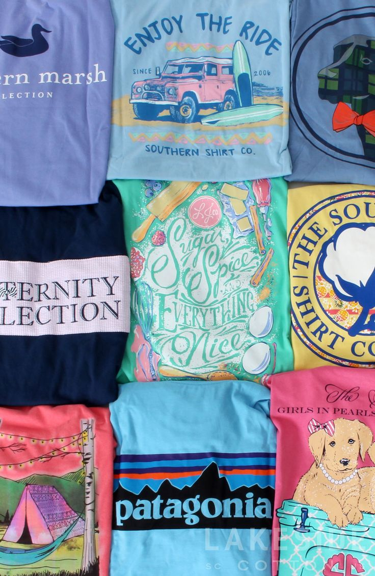 You can never have too many Southern T-Shirts! Shop them all at www.lakesidecotton.marleylilly.com today!
