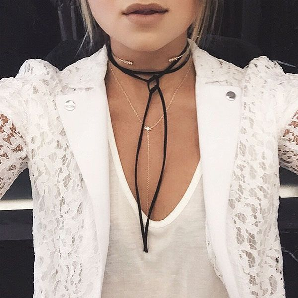 Layered necklaces add more depth to any piece you may be wearing. Although, this trend began in 2015 you will still be seeing many rocking the layered jewelry in 2016.