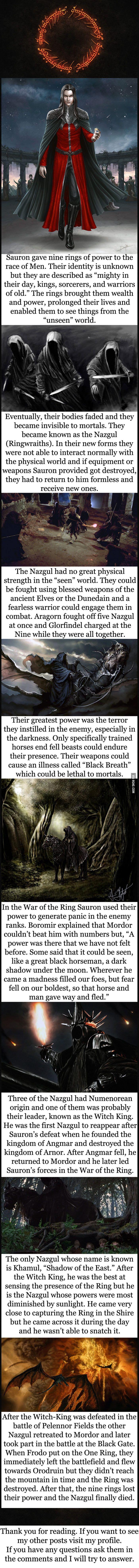 Tolkien lore - The Nazgul