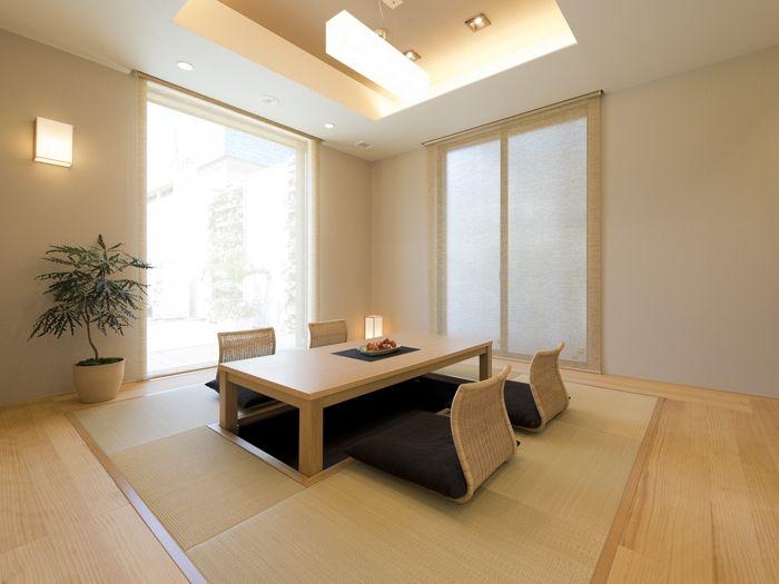 和室 折り上げ天井と間接照明 イメージ 和室 日本の家具 リビング モダン