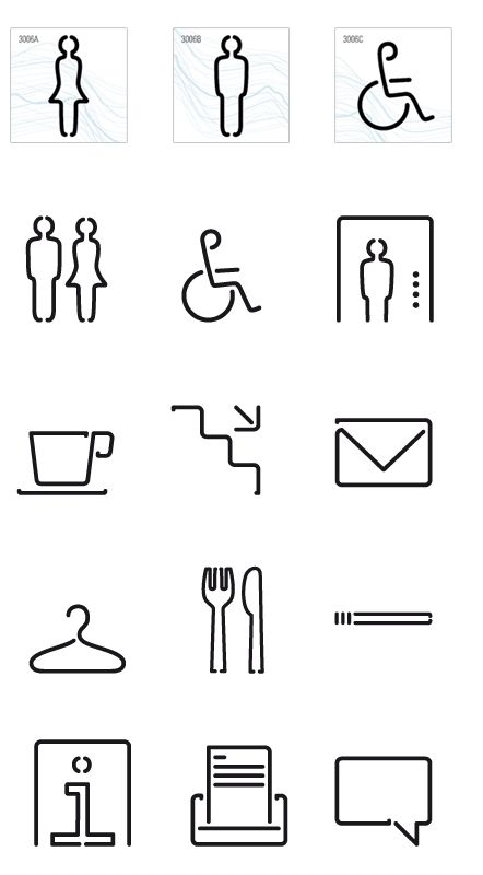 Office pictogram/ symbols (way-finding)